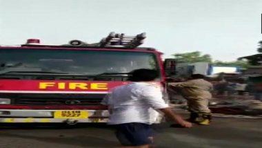 Delhi Fire: Blaze Erupts Outside Sonia Gandhi Camp in RK Puram, No Casualties Reported