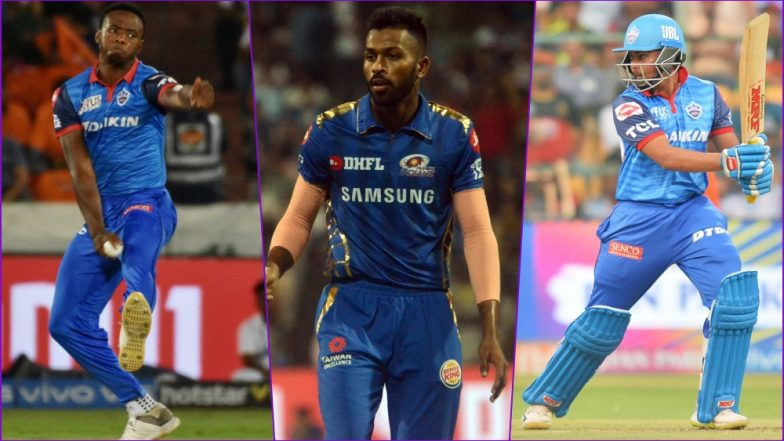 DC vs MI, PL 2019 Match 34, Key Players: Kagiso Rabada to Hardik Pandya to Prithvi Shaw, These Cricketers Are to Watch Out for at Feroz Shah Kotla Ground