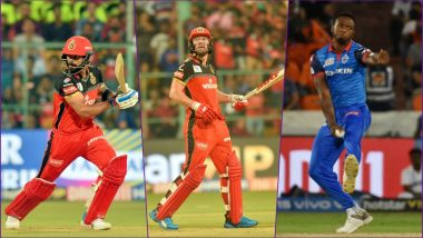 DC vs RCB, IPL 2019 Match 46, Key Players: Virat Kohli, AB de Villiers, Kagiso Rabada and Other Cricketers to Watch Out for at Feroz Shah Kotla