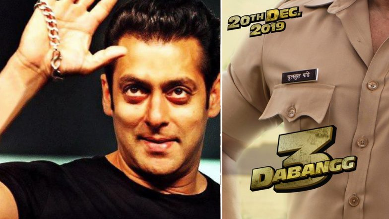Dabangg 3: 'Chulbul Is Back' Says Salman Khan Sharing a New Poster Announcing the Film's Release Date