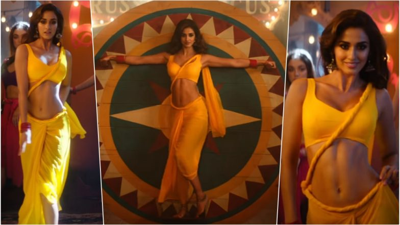 Disha Patani's Sexy Yellow Saree With Rope-Like Twisted Pallu in Bharat Song 'Slow Motion' Sparks Debate Among Designers, Netizens!