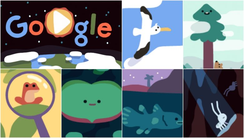 Happy Earth Day 2019! Google Doodle Explores Wandering Albatross, Coastal Redwood and Other Endangered Organisms Across Elevations
