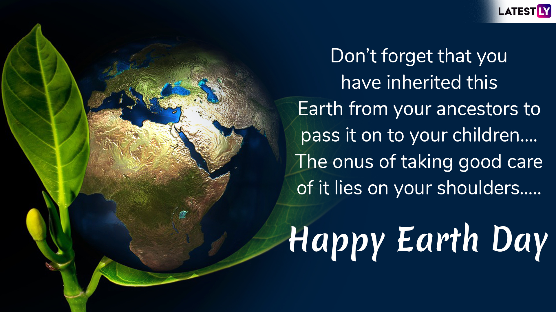 Re: Earth Day 4/22/2019