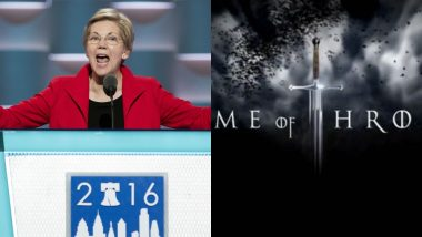 Democrat Presidential Candidate Elizabeth Warren Pays Tribute to Game of Thrones