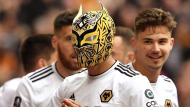 FA Cup 2018–19: Wolverhampton Wanderers' Raúl Jiménez Puts On a Mask to Pay Tribute to WWE's Sin Cara After Scoring a Goal Against Watford  (Watch Video)