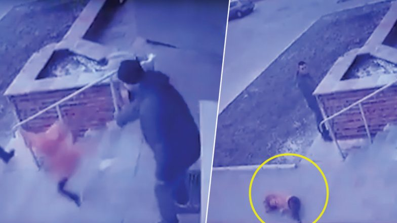 Ukrainian Father Arrested For Throwing Daughter Down The Stairs to Settle Her Fight with Little Brother Over Shopping Trolley