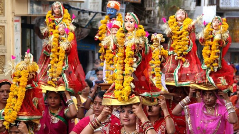 Gangaur Puja 2019 Date: Know Significance of Gauri Tritiya Vrat & Vidhi During the Colourful Rajasthan Festival