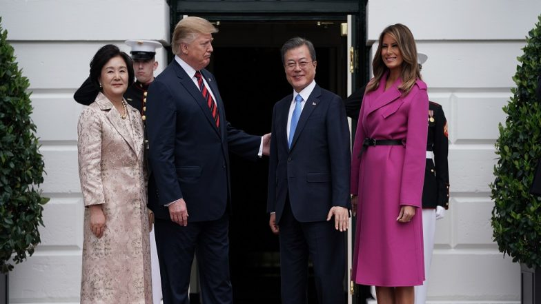 Moon Jae-in, Donald Trump Meet in Wake of North Korea Summit Failure