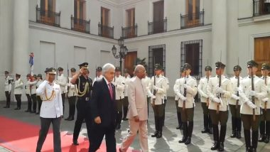 Chile: President Ram Nath Kovind Inspects Guard of Honour at Presidential Palace