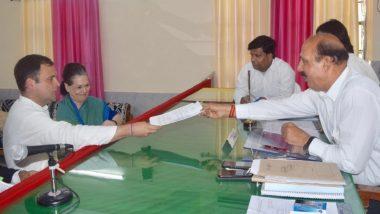 Lok Sabha Elections 2019: Rahul Gandhi Files Nomination for Amethi; Dares Narendra Modi for Debate on Rafale Issue