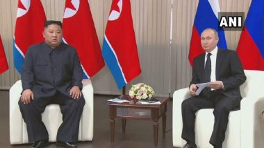 Vladimir Putin, Kim Jong-un Come Face-to-Face in First Ever Summit Between North Korea and Russia Since 2011
