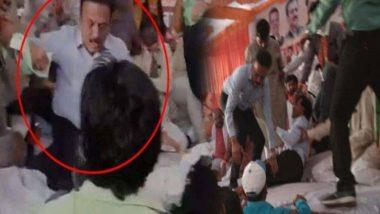 Rival BJP Factions Clash During Girish Mahajan's Rally in Jalgaon, Watch Video