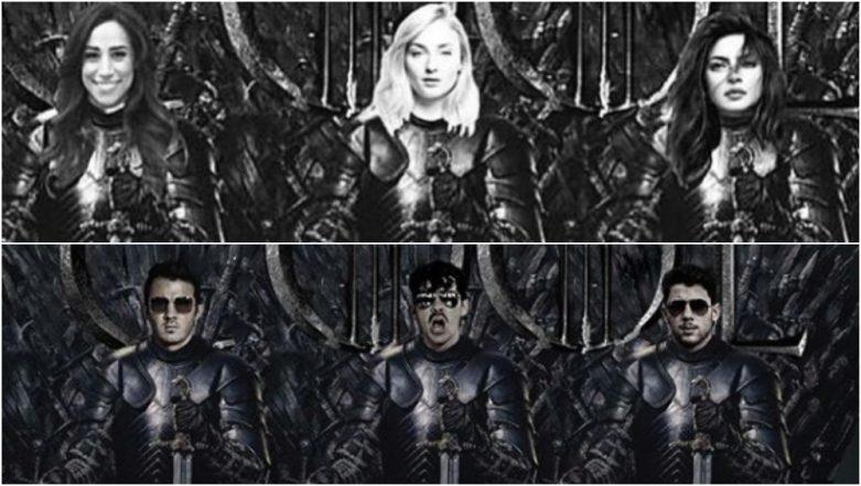 Game Of Thrones Season 8: Jonas Brothers or Sophie Turner, Priyanka Chopra and Daniella Jonas' J Sisters - Who Look Better on the Iron Throne?