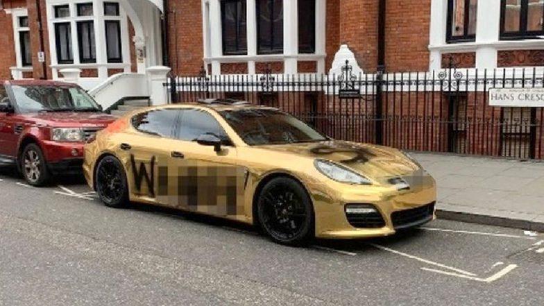 Instagram Millionaire S Gold Porsche Vandalised Just Weeks After