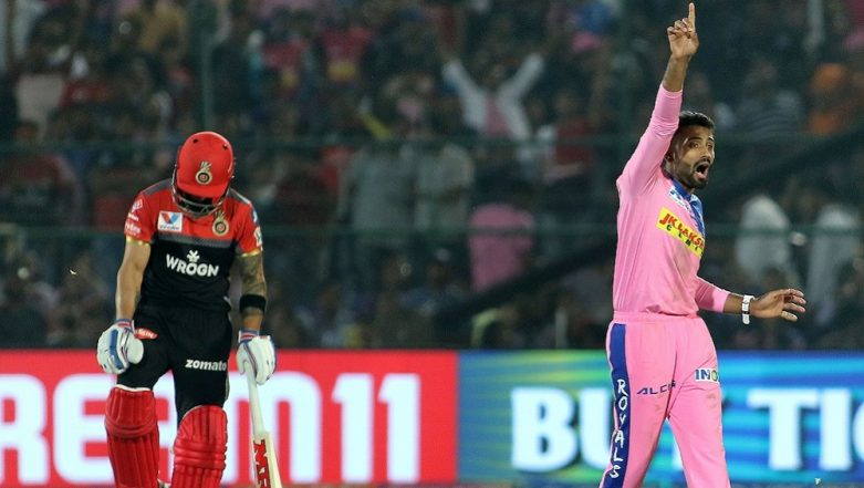 Parthiv Patel Scores Crucial 67 to Help RCB Post Target of 159 Against RR, Shreyas Gopal Shines As he Dismisses Virat Kohli and AB de Villiers in IPL Match 2019