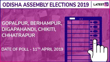 Gopalpur, Berhampur, Digapahandi, Chikiti, Chhatrapur Assembly Elections 2019 Results: Candidates, Names of Winning MLAs of Odisha Vidhan Sabha Seats
