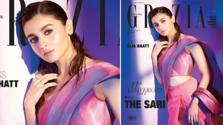 A Simple Saree and We Are Sold! Alia Bhatt is Here to Rule Your Hearts With Her New Photoshoot for Grazia India