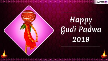 Gudi Padwa 2019 Images & Ugadi HD Photos for Free Download Online: Wish Happy Marathi & Telugu New Year With GIF Greetings, WhatsApp Sticker Messages & Wallpapers