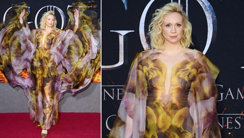 Gwendoline Christie aka Brienne Of Tarth's Iris van Herpen Gown Looks Like a Dream on Fire at Game of Thrones' Season 8 Premiere! (See Pictures)