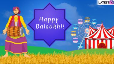 Happy Baisakhi 2019 Messages: WhatsApp Stickers, GIF Images, Vaisakhi Quotes & SMS to Send Punjabi New Year Greetings on Harvest Festival