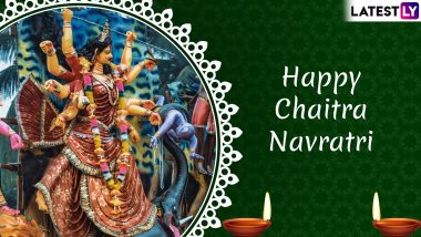 Chaitra Navratri 2019 Messages in Hindi: Best WhatsApp Stickers, SMS, GIF Image Greetings, Quotes and Wishes for Vasant Navaratri