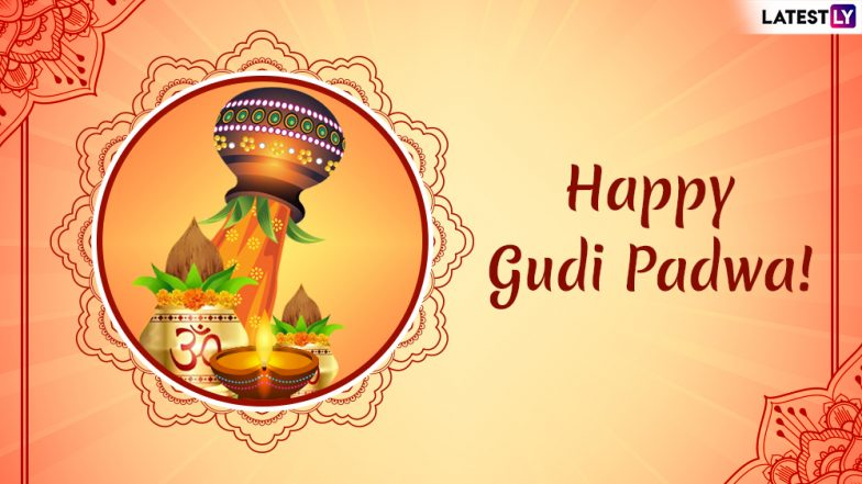 Happy Gudi Padwa 2019 Greetings: Ugadi WhatsApp Stickers, SMS, Messages, GIF Images to Wish On Maharashtrian New Year