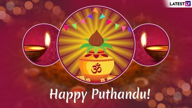 Puthandu Vazthukal 2019 Greetings in Tamil: Best WhatsApp Stickers, Tamil New Year Wishes, GIF Image Messages, SMS and Quotes to Wish Happy Puthandu