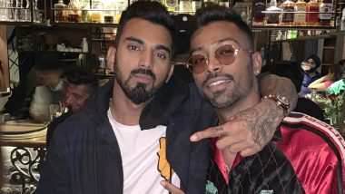 Hardik Pandya Shares a Picture With Kings XI Punjab Opening Batsman KL Rahul on Occasion of the Former's Birthday