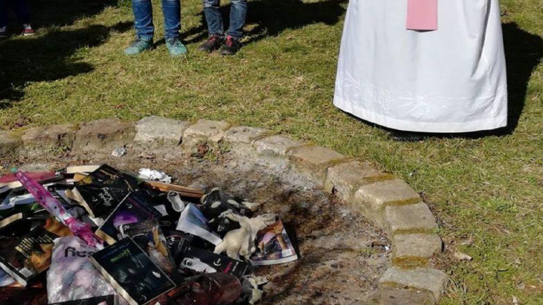 Catholic Priests Burn Harry Potter Books in Poland