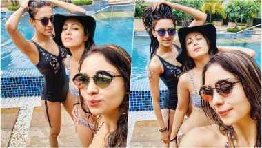 Too Hot for Instagram! Hina Khan Flaunts Her Sexy Curves in Striped String Bikini With Kasauti Zindagi Ki Co-Stars
