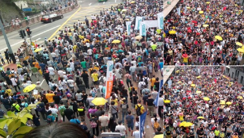 Hong Kong Erupts in Protests As China Brings in Law for Extradition of Persons on Trial
