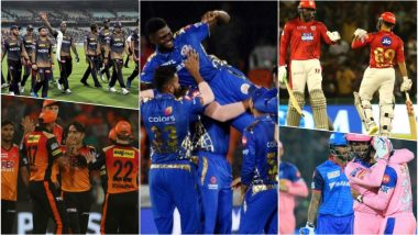 IPL 2019 Playoffs Qualification: MI, SRH, KKR, KXIP and RR Fighting for Last Two Slots in the Points Table