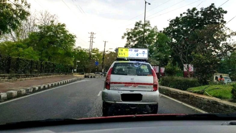 IPL 2019 Live Scorecard on the Move! Taxi Driver in Telangana Puts IPL Score Ticker Atop His Car, Internet in Love With Him (View Pic)