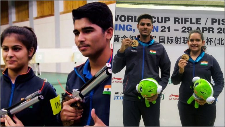 ISSF Shooting World Cup 2019: Indian Shooters Win Gold Medals in 10m Air Rifle Mixed and 10m Air Pistol Mixed Team Events