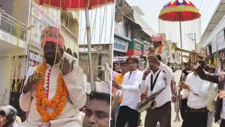 Vaidh Raj Kishan, Sanyukt Vikas Party Candidate in UP, Dresses Like a Bridegroom to File His Nomination For Lok Sabha Elections 2019; See Pics