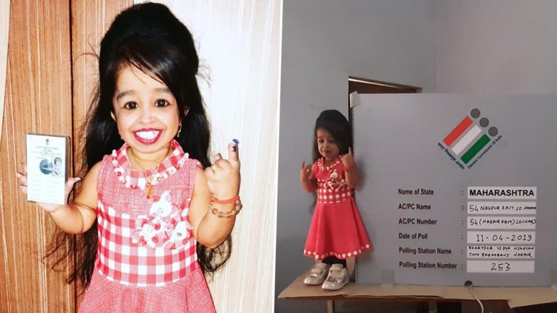 World's Smallest Woman Jyoti Amge Casts Vote From Nagpur During Phase 1 of Lok Sabha Elections 2019 (See Pictures)