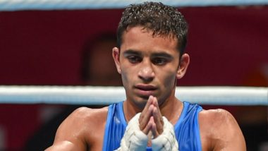 Amit Panghal Becomes First Indian to Enter World Men's Boxing Championship Finals, Defeats Saken Bibossinov in the Semi-Finals