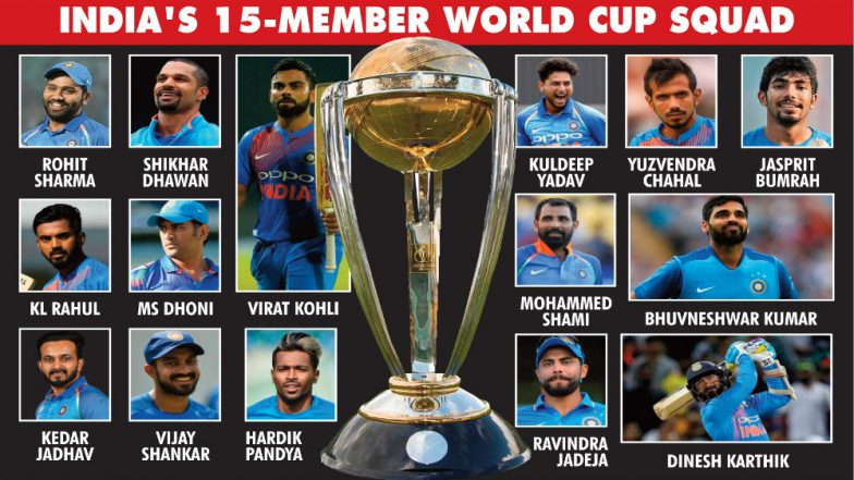 World cup photos in india 2019 team list name