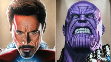Robert Downey Jr's Iron Man and Josh Brolin's Thanos Get Hyper-Realistic Portraits That You Can Zoom Right Down to the Pores! (View Pics)