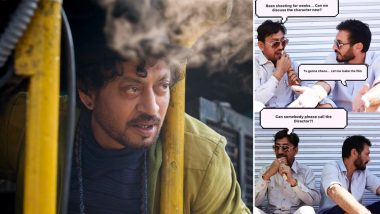 Angrezi Medium: Irrfan Khan and Director Homi Adajania's Banter from the Shoot is Hilariously Captured in This Picture