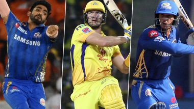 CSK vs MI, IPL 2019 Match 44, Key Players: Shane Watson, Quinton de Kock, Jasprit Bumrah and Other Cricketers to Watch Out for at MA Chidambaram Stadium