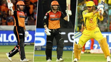 CSK vs SRH, IPL 2019 Match 41, Key Players: MS Dhoni, David Warner, Jonny Bairstow and Other Cricketers to Watch Out for at MA Chidambaram Stadium