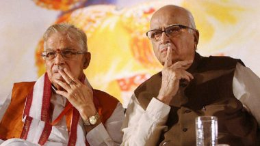 Ram Temple Foundation Stone Laying Ceremony in Ayodhya: LK Advani, Murli Manohar Joshi Yet to Get Formal Invites, May Attend 'Bhoomi Pujan' Via Video Conference