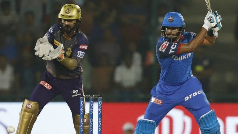 KKR vs DC Toss and Playing XI Live Updates: Delhi Capitals Opt to Bowl as Kolkata Knight Riders Include Joe Denly and Carlos Brathwaite