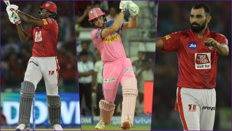 KXIP vs RR, IPL 2019 Match 32, Key Players: Chris Gayle to Jos Buttler to Mohammed Shami, These Cricketers Are to Watch Out for at PCA Stadium