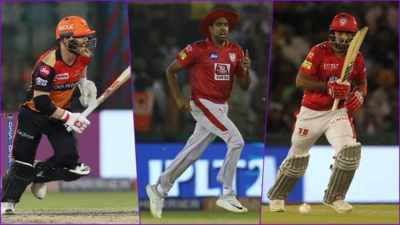 KXIP vs SRH, IPL 2019 Match 22, Key Players: David Warner to R Ashwin to KL Rahul, These Cricketers Are to Watch Out for at PCA Stadium