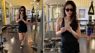 Taimur Ali Khan Photobombing Kareena Kapoor Khan's Hot Gym Selfie is Outright CUTE! (View Pic)
