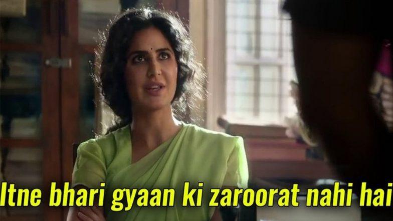 Bharat: Katrina Kaif's Dialogue 'Itne Bhari Gyaan Ki Zarurat Nahi Hai' Is The New One Liner Twitterati is Busy Making Memes Of!