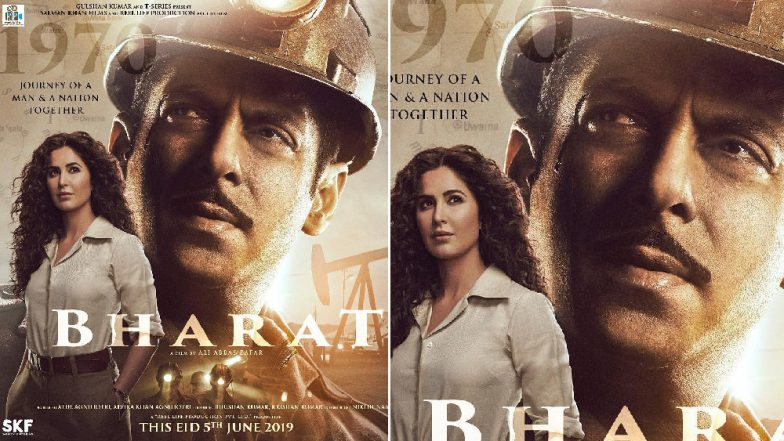 Bharat New Poster: Salman Khan's Happiness to Have 'Madam Sir' Katrina Kaif in His Life Is Evident in the Tagline – See Pic