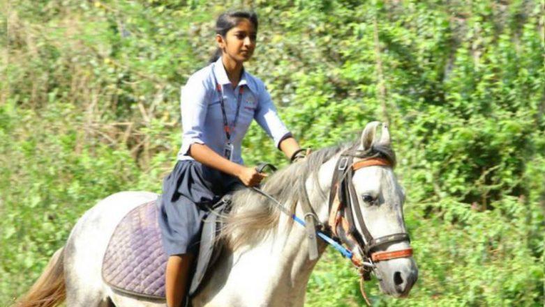 Kerala Girl CA Krishna Rides Horse En-Route to Class 10th Board Exam, Video Goes Viral